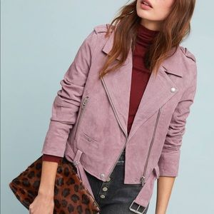 Blank NYC lilac suede moto jacket